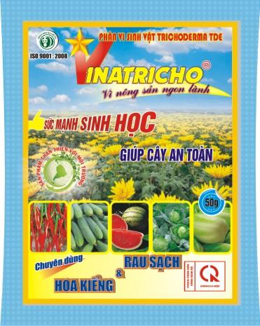 VINATRICHO GOI 50G chuyen dung cho rau sach va hoa kieng